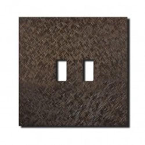 Socket - 1 gang - USB outlet - fer forgé bronze