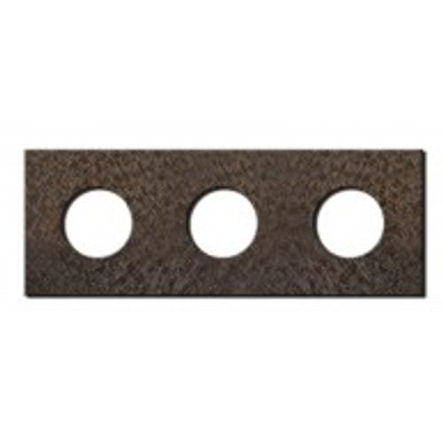 Socket - 3 gang - power outlet - fer forgé bronze