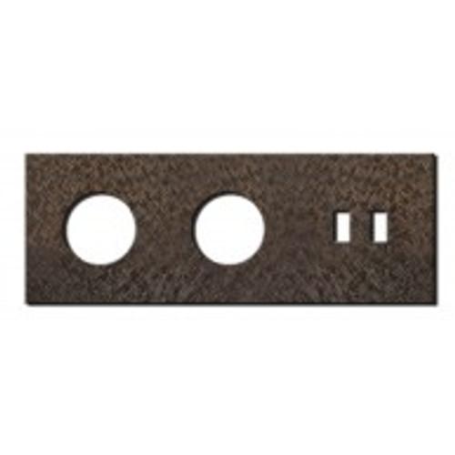 Socket - 3 gang - power + USB outlet - fer forgé bronze
