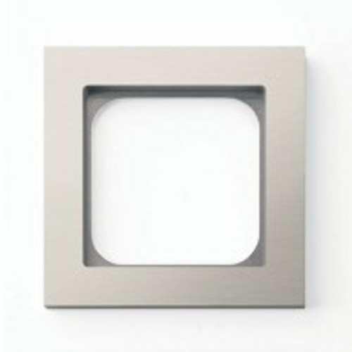Frame - 1 gang - brushed nickel