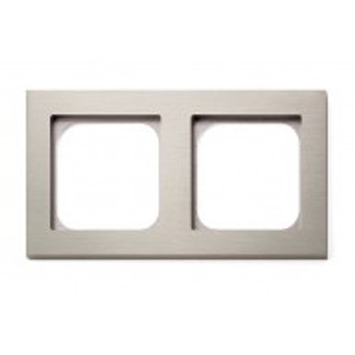 Frame - 2 gang - brushed nickel