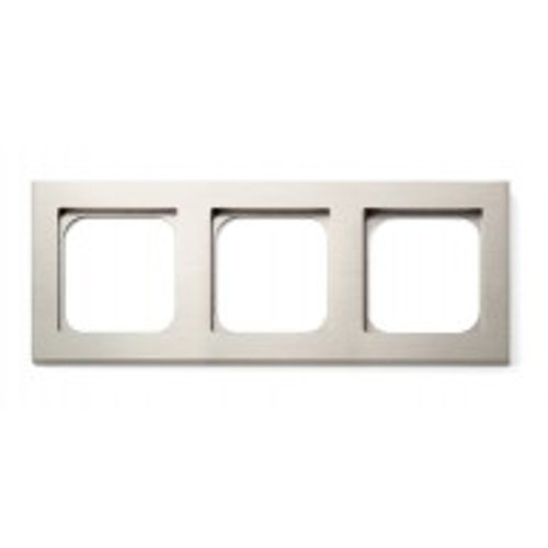 Frame - 3 gang - brushed nickel