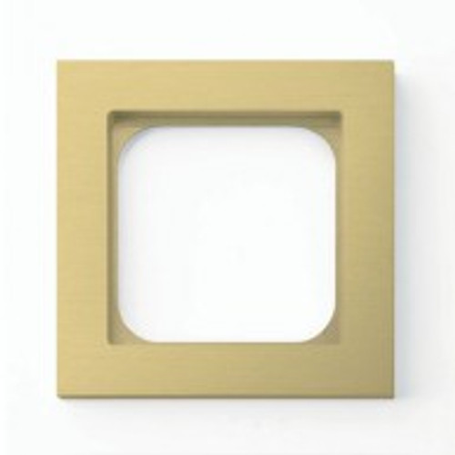 Frame - 1 gang - brushed brass