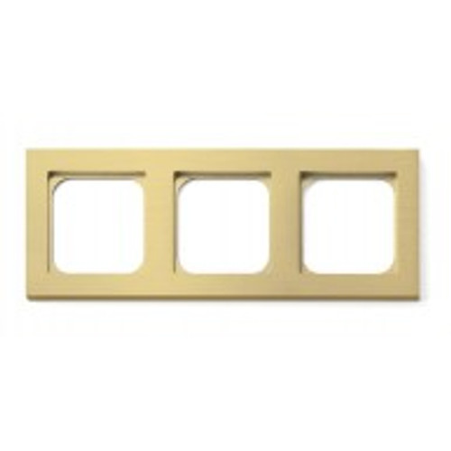 Frame - 3 gang - brushed brass