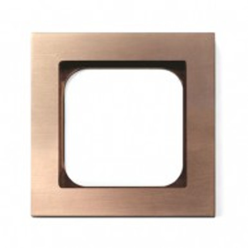 Frame - 1 gang - soft copper