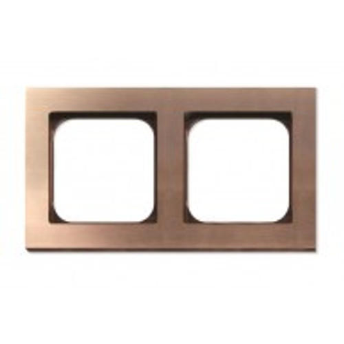 Frame - 2 gang - soft copper