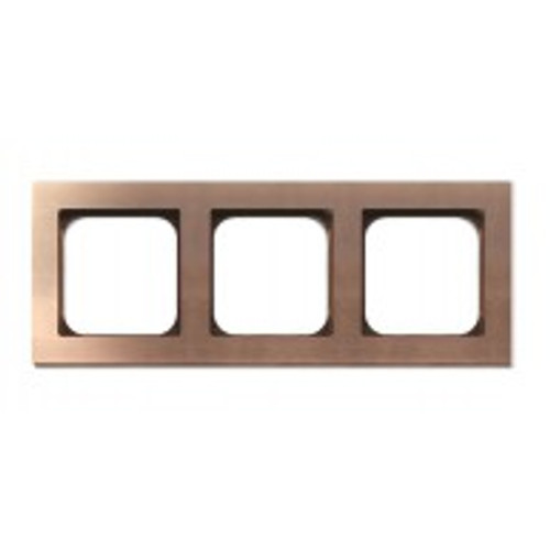 Frame - 3 gang - soft copper