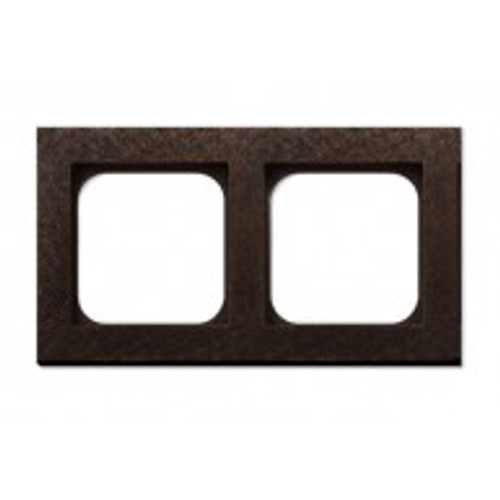 Frame - 2 gang - fer forgé bronze