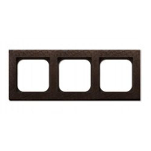 Frame - 3 gang - fer forgé bronze