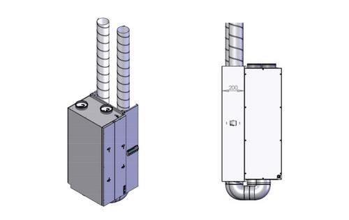Spacing brackets vertical install. 200 mm (CT150, CT200)