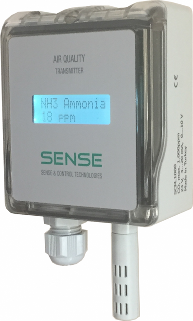 Carbon Dioxide (CO2) Transmitters SCD.WF0 / wall / 0-10V/4-20mA
