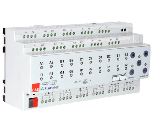 KNX Room Control Unit 16ch, 16 Input Fancoil, Switch, Blind actuator