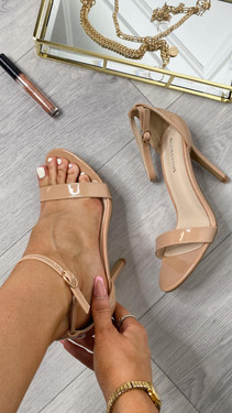 Get That Trend Glamorous Patent Nude Heels