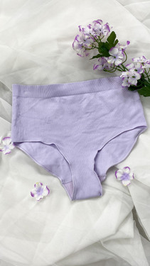 Get That Trend Only Rib Highwaist Seamless Brief in Lilac