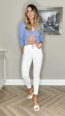 Get That Trend Pieces White High Waist Mom Fit Jeans