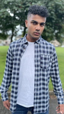 Get That Trend Produkt Blue Flannel Checked Shirt