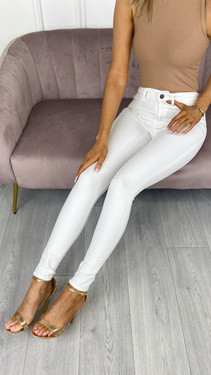 Get That Trend Noisy May Lucy White Skinny Fit Jeans