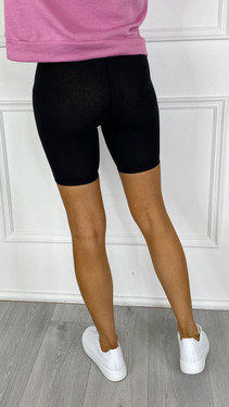 Get That Trend Pieces Black Cycle Shorts