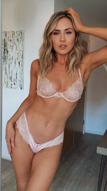 Get That Trend Pretty Polly Vintage Pink Lace Bra