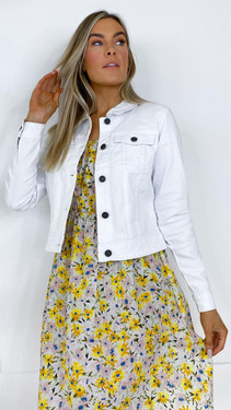 Get That Trend Noisy May White Cropped Denim Jacket