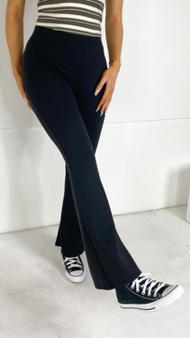 Get That Trend Only Black Stretchy Flared Trousers