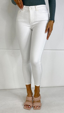 Get That Trend Pieces White High Waist Skinny Jeans