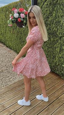 Get That Trend Ivy Lane Rose Pink Floral Print Wrap Dress