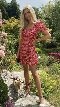 Get That Trend Ivy Lane Red Frill Hem Floral Print Dress