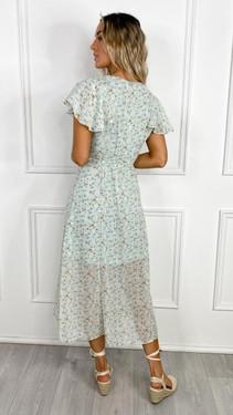 Get That Trend Ivy Lane Mint Button Down Floral Print Midi Dress