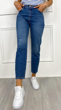 Get That Trend Noisy May Isabel Medium Blue Tapered Leg Jeans