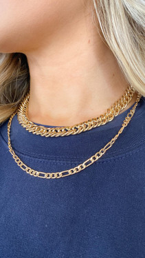 Get That Trend Pieces Gold Chain Necklace