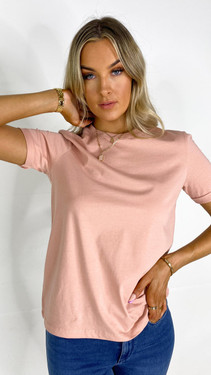 Get That Trend Pieces Misty Rose T-Shirt
