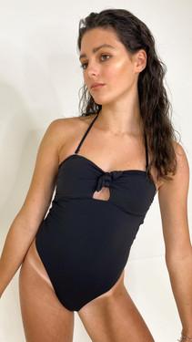 Pieces Black Keyhole Detail Swimsuit