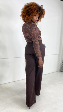 Get That Trend Motel Rocks Onfal Trouser in Chocolate Brown