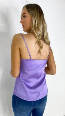 Ivy Lane Purple Satin Camisole