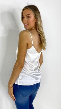 Ivy Lane White Satin Camisole