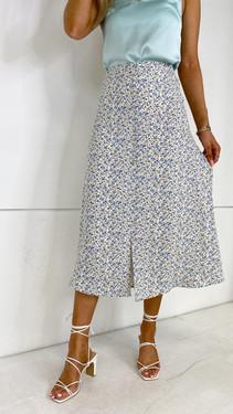 Get That Trend Ivy Lane White Floral Slip Skirt