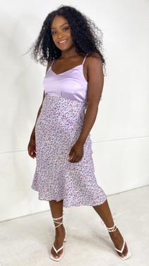 Ivy Lane Printed Slip Skirt