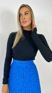 Get That Trend Pieces Black Long Sleeve Mock Neck