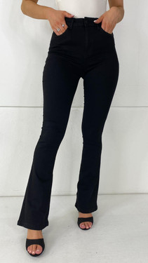 Get That Trend Noisy May Black High Waist Flared Jeans