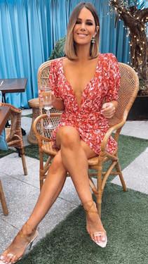 Get That Trend Ivy Lane Red Floral V Neck Crop Top