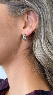 Get That Trend Pieces Silver Twisted Hoop Earrings