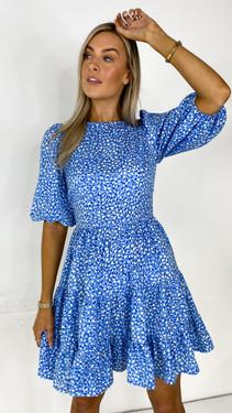Get That Trend Ivy Lane Blue Tiered Mini Dress