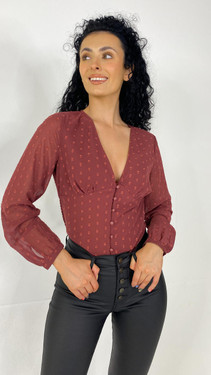 Get That Trend Only Burgundy Long Sleeve Button Down Top