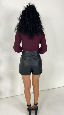 Get That Trend Only Black Faux Leather Shorts