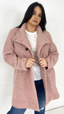 Get That Trend Only Carmakoma Blush Pink Wool Coat