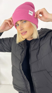 Get That Trend Only Life Pink Knitted Beanie