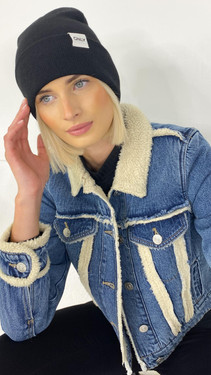 Get That Trend Only Life Black Knitted Beanie
