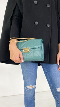 Get That Trend Only Emerald Green Faux Leather Crossbody Bag