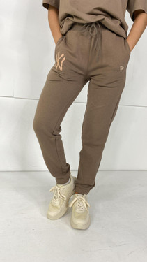 Get That Trend New Era Taupe Relaxed Joggers